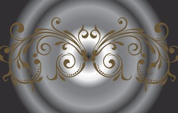 Brown Curly Decorative Ornament - vector gratuit #172035