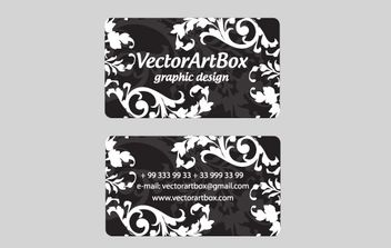 White Floral Business Card - vector gratuit #172215