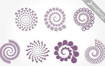 7 Spirals - Free vector #172225