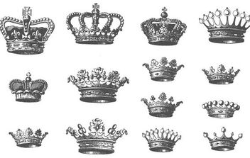 Grunge Vector Crowns - Free vector #172265
