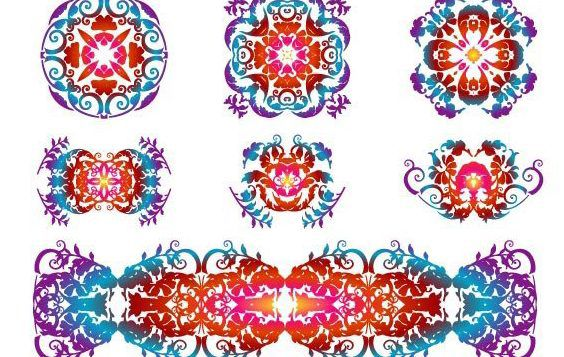 Floristic Design Patterns - Free vector #172325