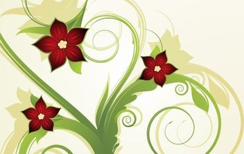 Abstract floral background 2 - Free vector #172375