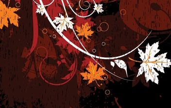Floral grungy illustration - Free vector #172665