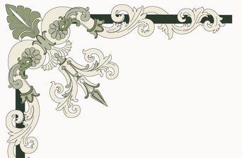 Corner ornament - Italian style - Free vector #172705