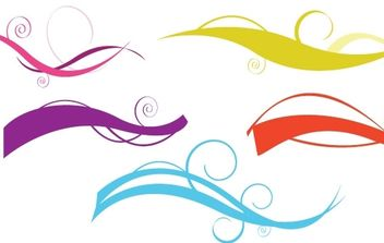 Waves with colored swirls - vector #172755 gratis