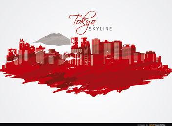 Tokyo buildings skyline - Free vector #173015
