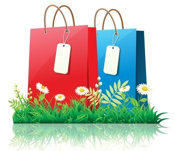 Fresh Spring Time Shopping with Daisies - vector gratuit #173065