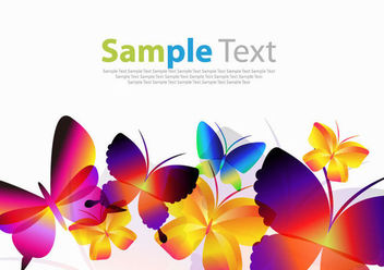 Colorful Decorative Butterfly Collection - vector gratuit #173085