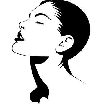 Closed Eyes Hot Female Fashion - vector gratuit(e) #173155