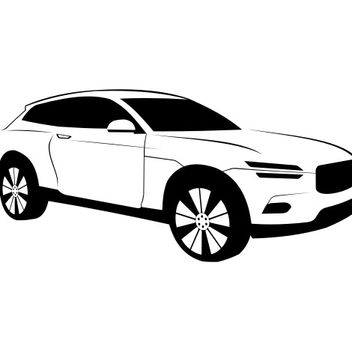 Luxury Black & White Volvo XC Coupe Car - Free vector #173165