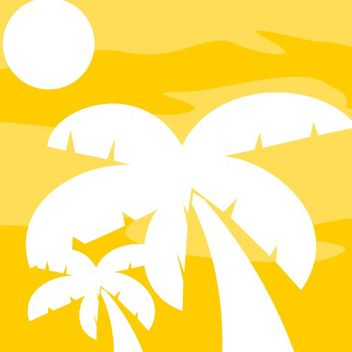 Palm Trees Silhouette on African Sky - vector gratuit #173185