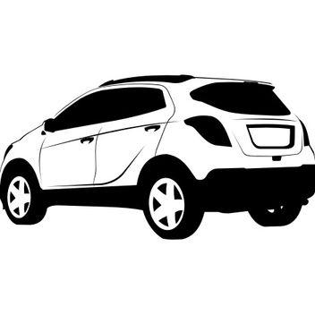 Black & White Hand Traced Opel Mokka SUV - Free vector #173245