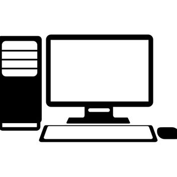 Desktop PC vector - vector gratuit #173325
