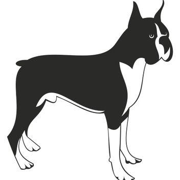 Boxer dog vector - vector #173345 gratis