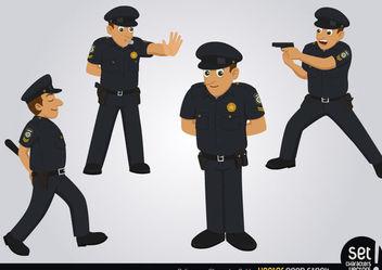 Policeman Character Set - Kostenloses vector #173475