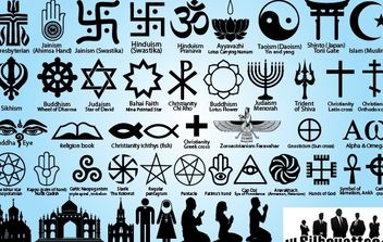 Religion Symbol Pack Silhouette - Free vector #173665