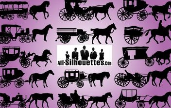 Wild West Carriage Vehicle Pack - Free vector #173685