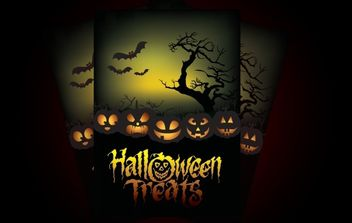Halloween Treat Poster - Free vector #173815