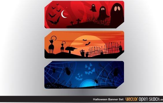 Halloween Banner - Free vector #173865