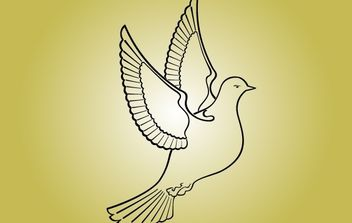 Line Art Pigeon Bird of Peace - Free vector #173905