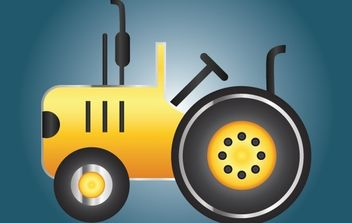Icon Yellow Tractor - vector gratuit #174065