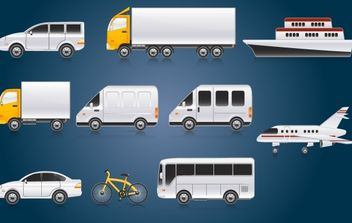 White Transport Pack - Free vector #174175