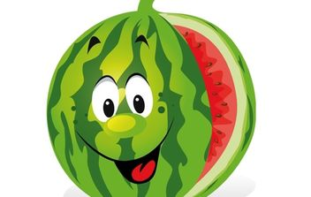 Cartoon Watermelon - vector gratuit #174215