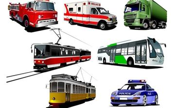 High Detail Transport Pack - vector #174285 gratis
