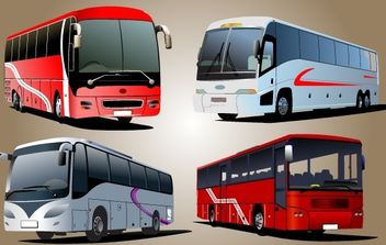 Luxury Bus Vector - Free vector #174295