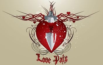 Heart in Painful Love - Free vector #174485
