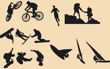 Silhouette Vector Riders - Free vector #174525