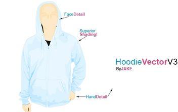 Hoodie Template - Free vector #174565