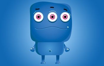 Monster Blue Icon Character - Free vector #174665