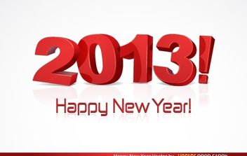 Happy New Year 2013 - vector gratuit #174675