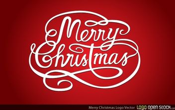 Merry Christmas logo - Free vector #174695