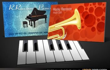 Musicians Business Card Set 3 - бесплатный vector #174705