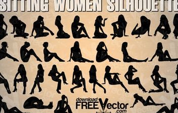 Sitting Woman Vector - Free vector #174845