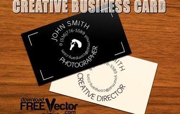Template Creative B-Card - Free vector #174935