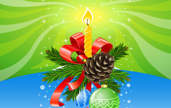 Christmas Composition - vector gratuit #175085