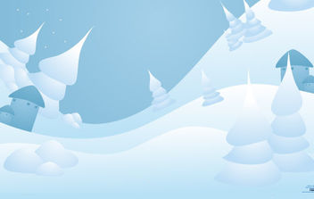 Vector Snow Landscape - Kostenloses vector #175115