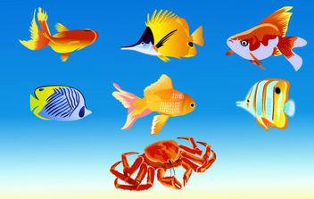 Vector Fish - Kostenloses vector #175375
