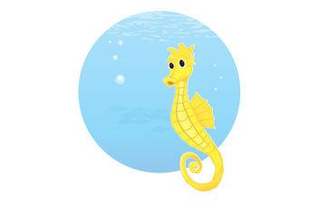 Free Vector Seahorse - Free vector #175405