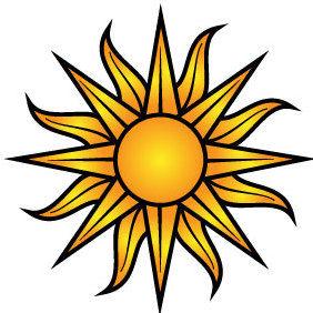 Sun Vector - Free vector #175515