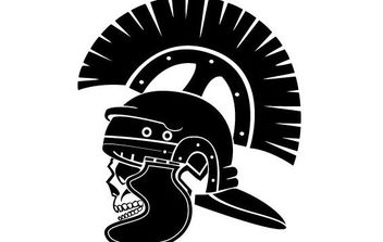 Skull Of Roman Soldier - Free vector #175595
