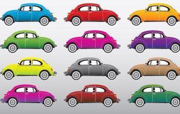 Volkswagen Beetle Vectors - vector gratuit #175815