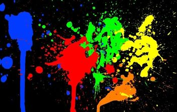 Color Paint Splashes - vector gratuit #175855