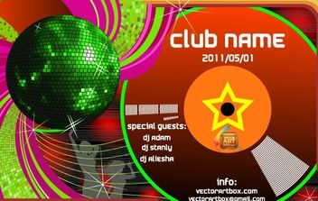 Vector Club Poster Template - Free vector #175885