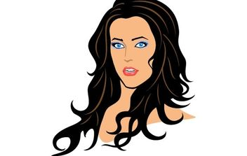 Beautiful Girl Vector - vector #176025 gratis