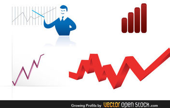 Growing Profits - vector #176085 gratis