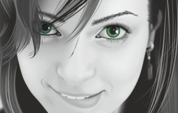 Girl portrait - vector gratuit #176305